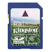 Карта памет (memory карта) 4GB SDHC KINGSTON CL4